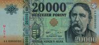 A legnagyobb címletű magyar bankjegy, a 20 000 forintos Deák Ferenc arcképével