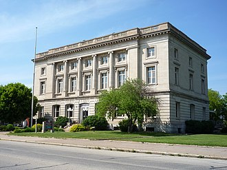 United States District Court for the Western District of Michigan - Old Federal Building in Sault Ste. Marie served as a courthouse of the Western District of Michigan, with the court meeting there from 1912 until 1941.