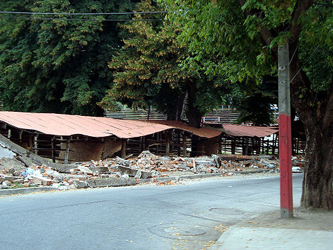 Chillán's Medialuna, after the February earthquake.