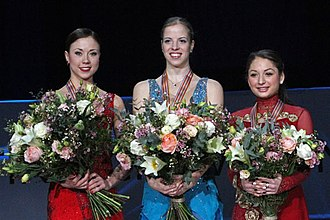 European Figure Skating Championships - The 2010 medalists in the ladies' event