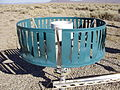 2011-12-14 Tonopah Airport ASOS automatic heated tipping bucket precipitation gauge.JPG