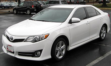 The best selling car in the United States, the Toyota Camry, is manufactured in Georgetown, Kentucky. 2012 Toyota Camry SE -- 02-29-2012.JPG