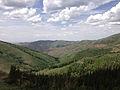 2014-06-24 14 19 52 View north down Coon Creek Valley from Elko County Route 748 (Charleston-Jarbidge Road) about 20.3 miles north of Charleston Reservoir between Bear Creek Summit and Coon Creek Summit, Nevada.JPG