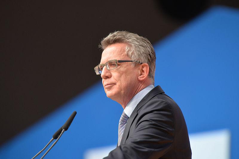 Německý ministr vnitra Thomas de Maiziére (Autor: Olaf Kosinsky/Skillshare.eu)