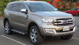 Ford Ranger (T6) - Image: 2015 Ford Everest Titanium (New Zealand)