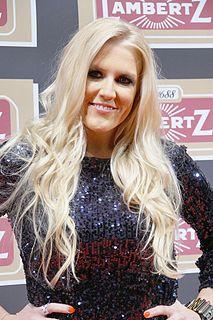 Natalie Horler German-born English singer and television presenter.