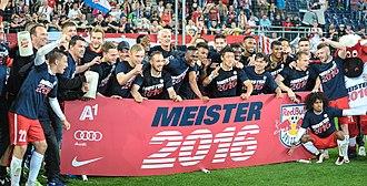 2015–16 Austrian Football Bundesliga - Red Bull Salzburg, Champion 2015/16