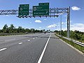 2019-06-14 14 08 29 View north along the Outer Loop of the Baltimore Beltway (Interstate 695) at Exit 35B (U.S. Route 40 EAST-Pulaski Highway, Aberdeen) on the edge of Rosedale and Middle River in Baltimore County, Maryland.jpg