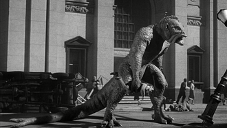 Ray Harryhausen - A scene from 20 Million Miles to Earth.