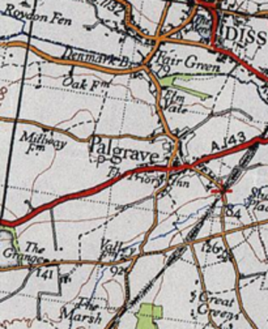Palgrave, Suffolk - A 20th Century Boundary Map of Palgrave, Suffolk.