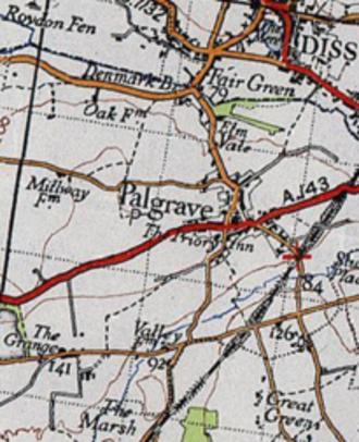 Palgrave, Suffolk - A 20th Century Boundary Map of Palgrave, Suffolk.