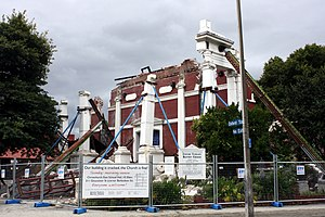 Oxford Terrace Baptist Church - The building after the collapse on 22 February 2011