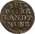 2 Pfennige, Landesdenkmalamt Berlin, Ausgrabung U5, 2827 – 5948, Vorderseite.jpg
