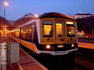 Brighton main line - A Thameslink train ready for a dawn departure from Brighton