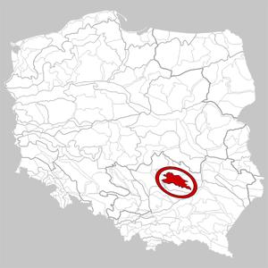 Świętokrzyskie Mountains - Image: 342.34 5 Góry Świętokrzyskie