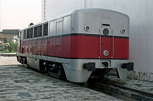 RENFE Class 350 - Rear of 350-003 in later Talgo III livery carried from 1972-76