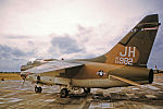 3d Tactical Fighter Squadron A-7D Corsair II 70-982 on parking ramp.jpg