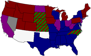 54th United States Congress - Image: 54th US Senate composition