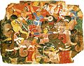 5 Battle Scene. Bhagavata Purana. Uttar Pradesh or Malwa, or Delhi-Agra. 2nd quarter of 16 century. The Cronos Collection New-York.jpg