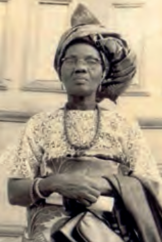 Funmilayo Ransome-Kuti - Image: 70 year old Funmilayo Ransome Kuti on her birthday