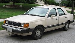 1984–1985 Mercury Topaz GS sedan