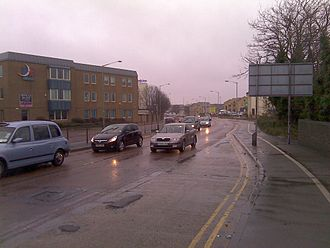 A15 road (England) - The A15 dual carrigeway in the city centre.