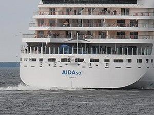 AIDAsol Genova departing Tallinn 6 July 2012.JPG