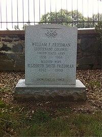 ANCExplorer William F. Friedman grave.jpg