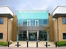 L'ingresso di ARM1, uno degli edifici del campus ARM Cambridge, Regno Unito