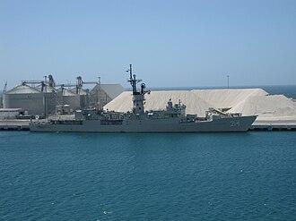 USS Whipple (FF-1062) - ARM Mina in 2009.