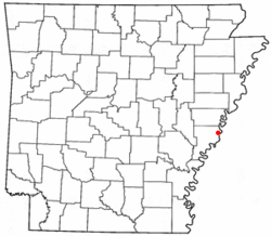 Location of Helena, Arkansas