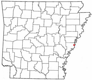 Helena, Arkansas - Image: AR Map doton Helena