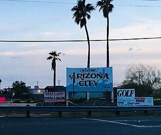 Arizona City, Arizona - Image: AZ City Sign