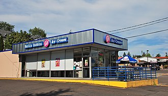 Baskin-Robbins - A 1967 Baskin-Robbins store in Portland, Oregon, that retains its original look, a design typical of the chain's outlets in the 1960s