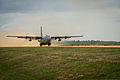 A Nevada Air National Guard C-130H Hercules aircraft takes off at the Geronimo landing zone during Joint Readiness Training Center (JRTC) 14-05 training at Fort Polk, La., March 14, 2014 140314-F-XL333-087.jpg