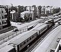 "A PASSENGER TRAIN ON ""YEHUDA HALEVY"" STREET IN TEL AVIV. רכבת נוסעים עוברת ברחוב ""יהודה הלוי"" בתל אביב.D844-024.jpg"