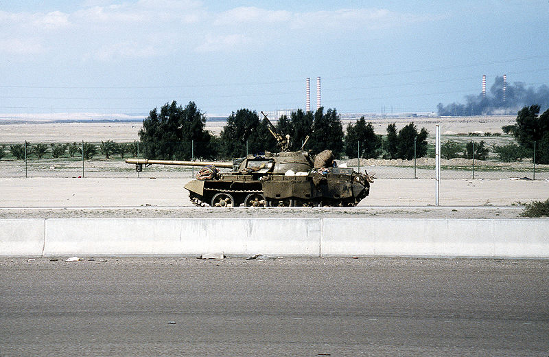 File:A damaged Iraqi Type 69 tank during the Gulf war.JPEG