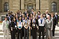 A group shot of all finalists standing in front of the National Research Council Canada building May 6th, 2009.jpg