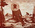 A large male hamadryas baboon (Papio hamadryas) with two fem Wellcome V0021464.jpg