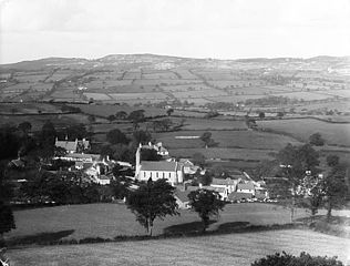 A view of Betws-yn-Rhos from the hill