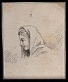 A woman lost in reflection; profile. Drawing, c. 1794, after Wellcome V0009219ETL.jpg