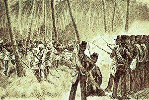 Mads Johansen Lange - Balinese attack the Dutch at Kasumba