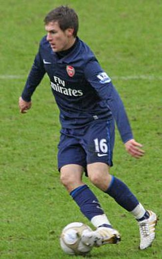 Aaron Ramsey - Ramsey playing against Stoke City in 2010
