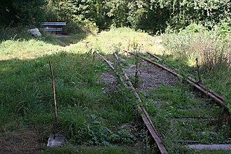 Treffry Tramways - Abandoned railway sidings at Ponts Mill, part of the remains of the Treffry Tramway