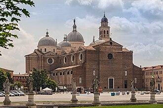 Prato della Valle - The Basilica of Santa Giustina as seen from the Prato.