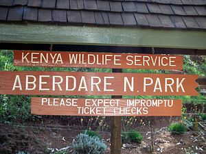 Aberdare National Park - Aberdare Park entrance