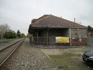 The former Baltimore and Ohio Railroad station in Aberdeen.