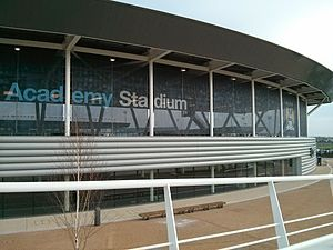 Academy Stadium - Image: Academy Stadium outside