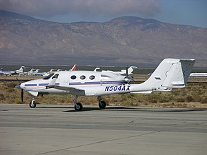 Adam A500 - Adam A500 during flight test at the Mojave Spaceport