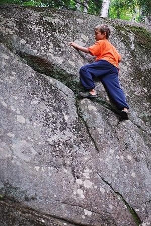 Green exercise - Image: Adirondacks Rolling Pond Campground bouldering
